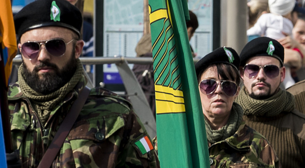 Easter commemoration held by Republican group Saoradh in Dublin on Saturday