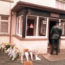 Floral tributes left at the scene of the Loughinisland massacre