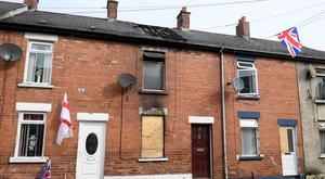 The house that was targeted by arsonists in Castlereagh Parade