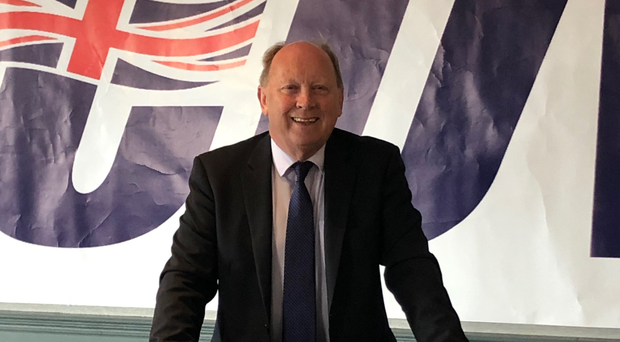Party leader Jim Allister launches the TUV manifesto in Carrickfergus
