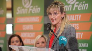 Sinn Fein's Martina Anderson is selected as the Party's Northern Ireland candidate for the European Elections (Niall Carson/PA)