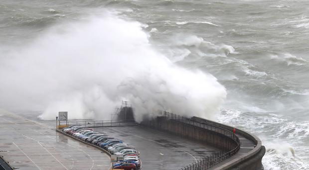 Windy conditions like those experienced at the Port of Dover in Kent during Storm Gareth earlier this year are expected (Gareth Fuller/PA)