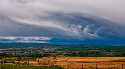 Thunder storms in Lancashire