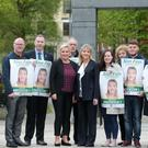 Michelle O'Neill (Sinn Fein) heads the campaign team yesterday