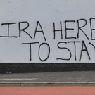The graffiti scrawled on the side of a community centre in Derry