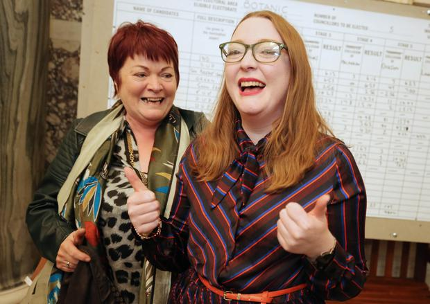 Green Party's Aine Groogan with her mother Rita