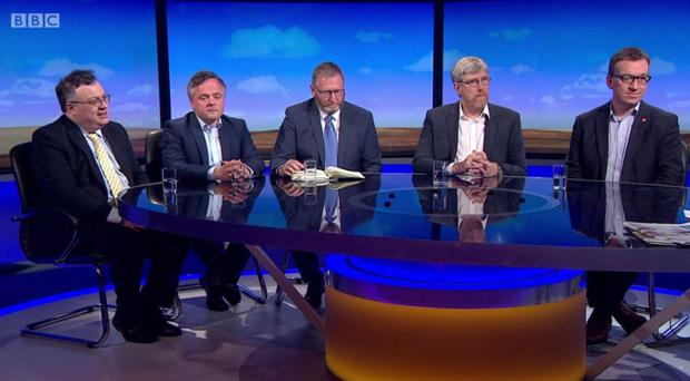 The line-up on BBC NI's Sunday Politics