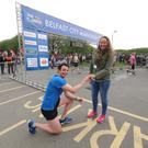 Rob Kelly asks Orlagh Hester to marry him after finishing the marathon