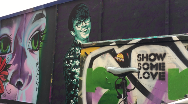 The mural of murdered journalist Lyra McKee in Belfast (David Young/PA)