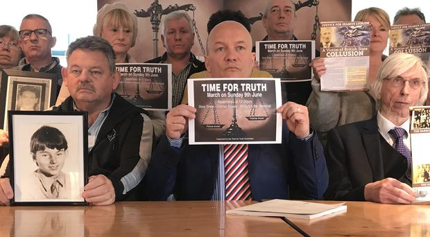 Bereaved families of a number of people killed during Northern Ireland's Troubles have announced a second Time for Truth march to take place in Belfast in June. (Rebecca Black/PA)