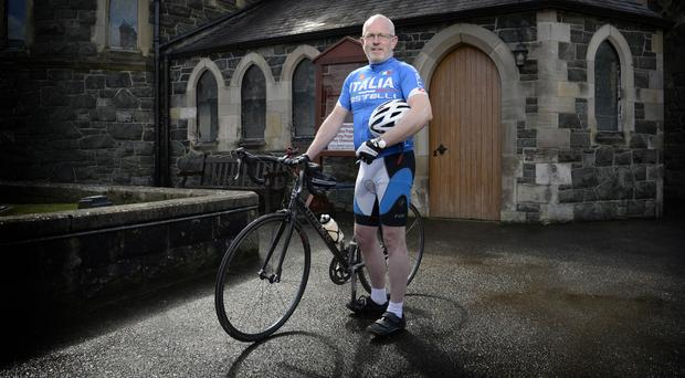 Cyclist and Dean of Dromore Cathedral, Geoff Wilson