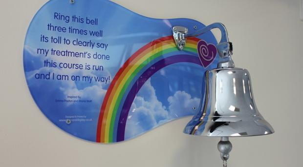 The symbolic bell which has been installed at the Royal Belfast Hospital for Sick Children