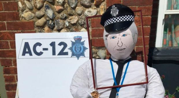 The Ted Hastings scarecrow