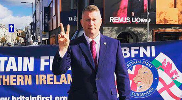 Facebook has banned Britain First leader Paul Golding from its site.