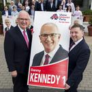 Danny Kennedy is running for one of Northern Ireland's three seats in Brussels in this month's poll (Liam McBurney/PA).