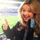 Sarah McBriar watches a Manchester City match at the Etihad