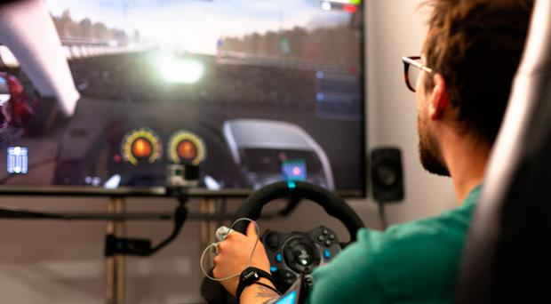 A driver simulation test of the 'emphatic car' which will respond and react to the feelings of the driver