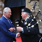 The Prince of Wales during his visit to Brownlow House, Lurgan (Owen Humphreys/PA)
