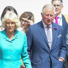 The Prince of Wales and Duchess of Cornwall in Belfast city centre