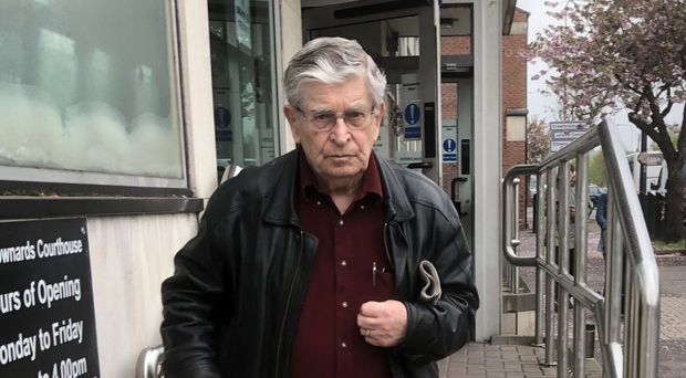 Fedor Harvey Stewart leaves court after an earlier hearing