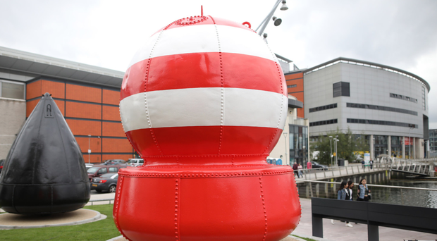 The Belfast Buoys behind the SSE Arena