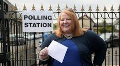 Alliance party leader and candidate Naomi Long (Brian Lawless/PA)