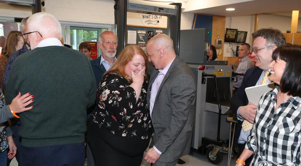 Alliance party leader Naomi Long said she was thrilled by the result (Liam McBurney/PA)