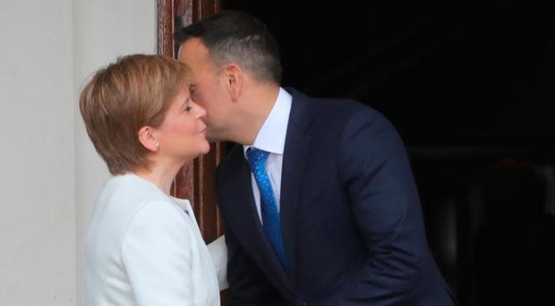 Nicola Sturgeon meeting Leo Varadkar in Dublin yesterday