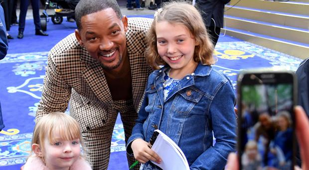 Emily and sister Luciana meet Aladdin star Will Smith