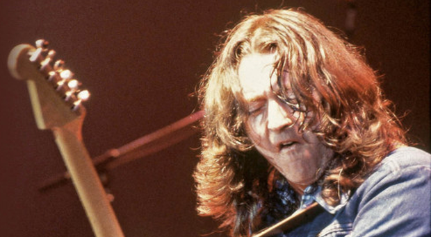 Rory Gallagher on stage during his heyday. A 'new' album of his music is released today