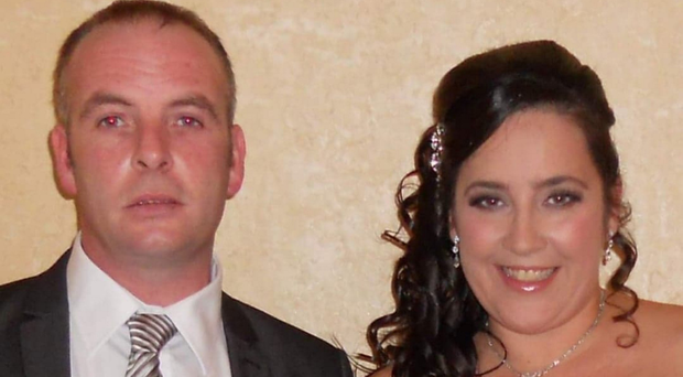 Colin McGarry, who died in Benidorm on Sunday, with partner Gail McMillan