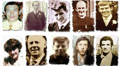 Joseph Corr, Danny Taggart, Eddie Doherty, Father Hugh Mullan, Frank Quinn, Joan Connolly, John McKerr, Noel Philips, John Laverty and Joseph Murphy (Ballymurphy Massacre Committee/PA)