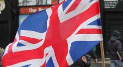 Man with a Union flag