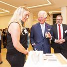 Jemma McGrath (left) with Prince Charles at the Youth Can Do It event in London