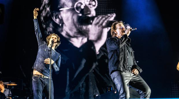 Gary Lightbody and Snow Patrol were joined on stage by Bono at Ward Park in Bangor earlier this month