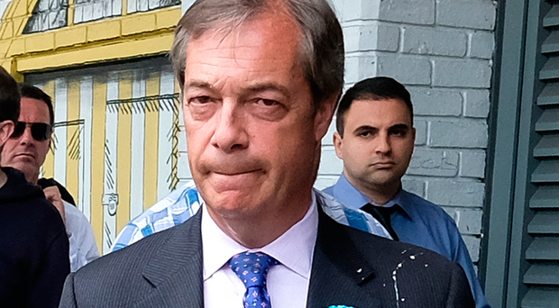 Nigel Farage's milkshake incident