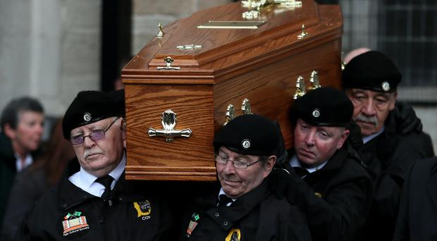 Billy McKee funeral (Brian Lawless/PA)