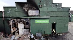 The JP Corry store outside Ballymena was badly damaged in a blaze on Sunday