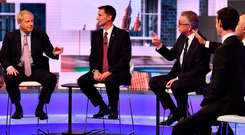 Boris Johnson, Jeremy Hunt, Michael Gove, Rory Stewart and Sajid Javid during the BBC TV debate