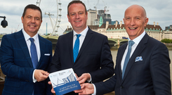 Glyn Roberts, Stephen Kelly and Colin Neill head up Trade NI.