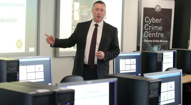 Detective Superintendent Richard Campbell in the training room