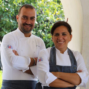 Head chef Philly d'Uva (right) with her partner and number two in the kitchen, Nicola Attianese