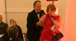 Mark Field removing climate change protester. Photo: BBC
