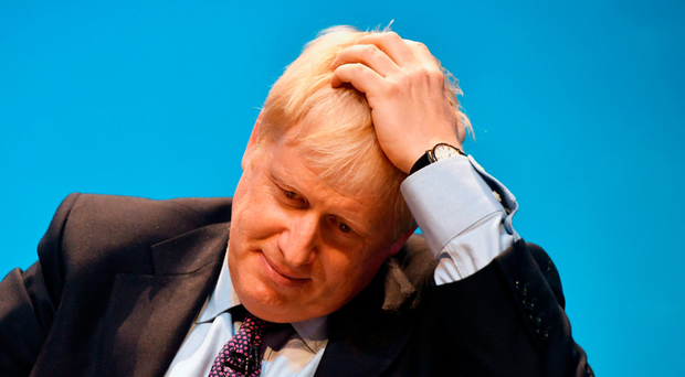 Boris Johnson in Birmingham on Saturday after police were called to the house he shares with partner Carrie Symonds