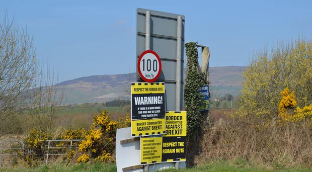 The border between Londonderry and Donegal at Bridgend (Deborah McAleese/PA)