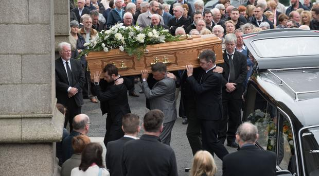 Funeral of broadcaster Eamon Friel takes place at St Eugene's Cathedral in Derry