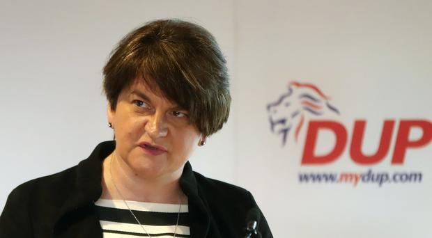 Arlene Foster addressed the Policy Exchange think tank in London (PA)