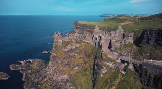 The swimmer got into difficulties after cliff diving at Dunluce.