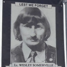 A similar banner of UVF killer Wesley Somerville was erected in the village in 2017