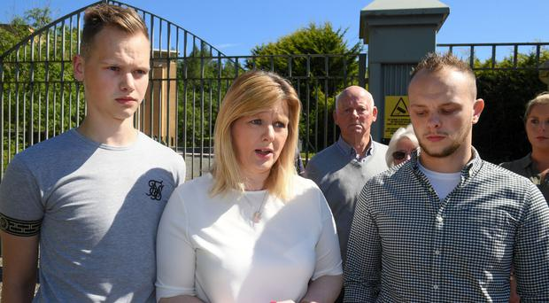 Helen McTeague with sons Ryan (left) and Conor
